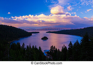 Emerald Bay - Sunset over Emerald Bay, Lake Tahoe