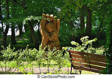 Green parks in Poland - A beautiful oasis of greenery,...
