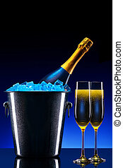 luxury champagne background - luxury champagne set a very...