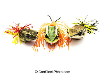 Fish bait - Artificial bait for fishing on white background.