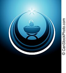 Baby Jesus icon - symbol or icon representing the baby Jesus...