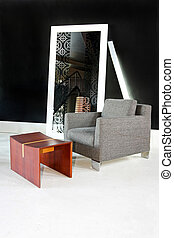 Armchair interior - Interior of living room with armchair...