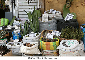 South American Pharmacy - A traditional witches market in...