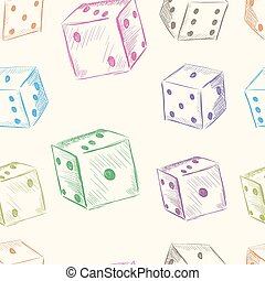 Color dice seamless texture - Color dice in a chaotic...