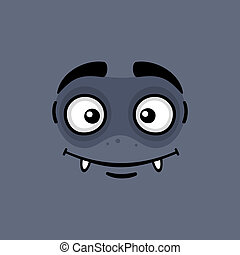 Cartoon Expression Monster Face - Cartoon Expression Vampire...
