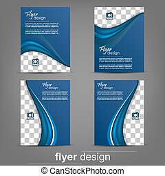 Set of business flyer template, corporate banner or cover...