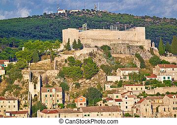 Sibenik fortress on the hill - Sibenik old St. Nicholas...