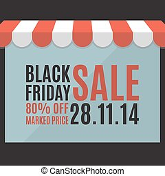 Black friday sale background. Store concept