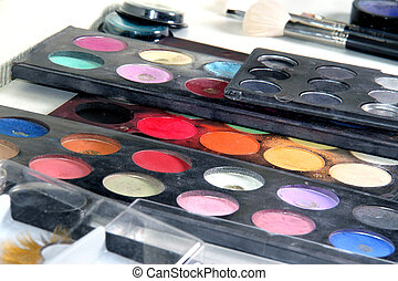 Makeup paletteColorful cosmetic background