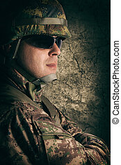 Portrait of young soldier
