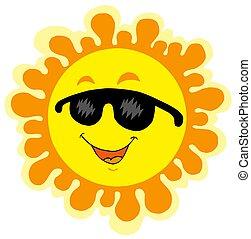 Funny Sun cartoon - isolated illustration.