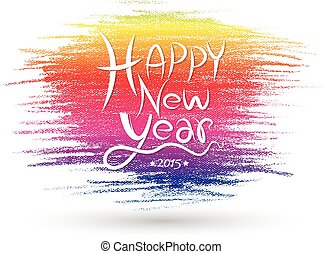 Happy new year card. Vector illustration. Can use for...