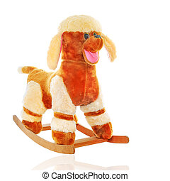 toy dog - plush dog isolated on white background, toy for...
