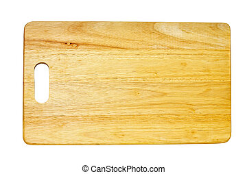 Chop board - Wooden chop board isolated included clipping...
