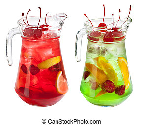 Sangria pitcher collection on white