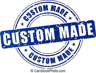 blue custom made stamp - illustration of blue custom made...