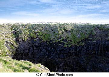 high green cliffs - cliffs of Ballybunion county Kerry...