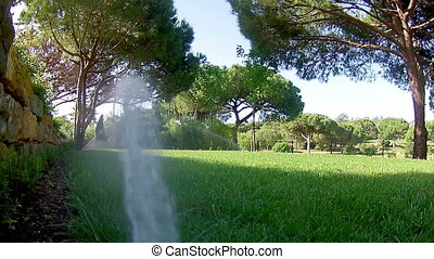 Garden Irrigation Sprinkler POV - Garden Irrigation...