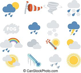 Weather Icons - Weather icon set for weather forecasting...
