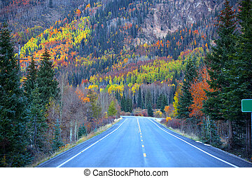 Million dollar high way in autumn time