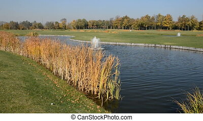 Golf course in Mezhigirya, Ukraine. It is former residence...