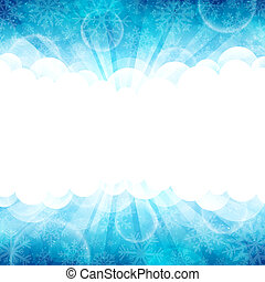 Blue winter - Vector illustration of a beautiful blue winter...