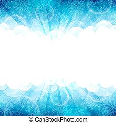 Blue winter - Vector illustration of a beautiful blue winter...