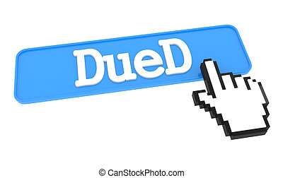 Dued Button with Hand Cursor.