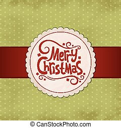 Xmas background - Vector vintage illustration for Merry...
