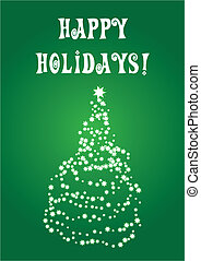A christmastree on a card - A christmastree made of stars on...