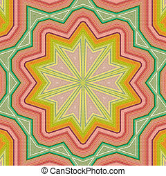 Abstract background - retro colorful ornate in bright colors...