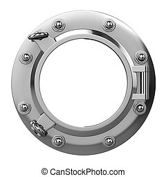 3d Stainless steel porthole - 3d render of a stainless steel...