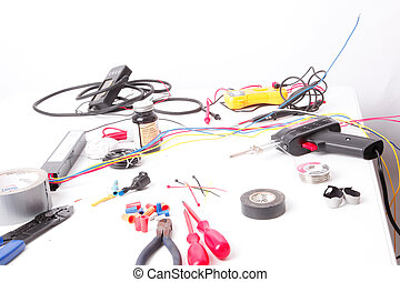 Electrical Tools - A group of tools for electrical work.