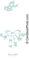 Vector shiny diamonds gift bow silhouette pattern frame...