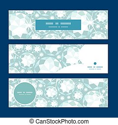 Vector shiny diamonds horizontal banners set pattern...