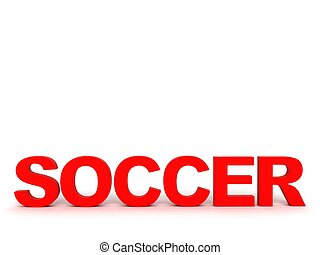 front view of soccer word