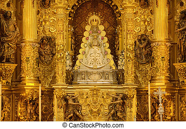 Virgin of El Rocio altar - The hermitage of The Virgin of El...