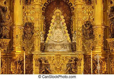 Virgin of El Rocio altar - The hermitage of The Virgin of El...