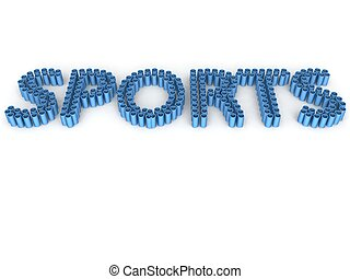three dimensional sport text