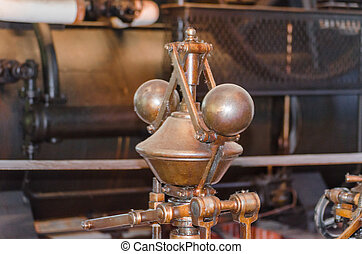 Detail of a steam engine. - LWL-Open-Air Museum Hagen....
