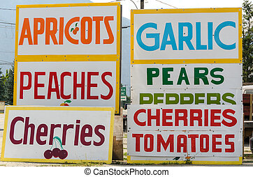 greengrocer - signs of a shop selling fruit in canada