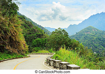 Mountains road, Philippines