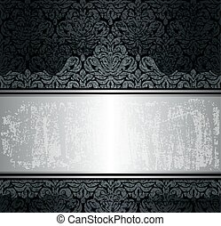 Black & silver luxury background