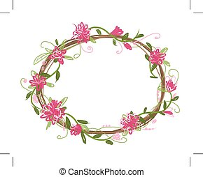 Floral frame for your design