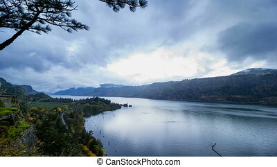Columbia River Gorge at Hood River Oregon Scenic View at...