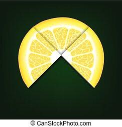 lemons segments. Vector background