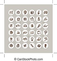 Set of school icons for your design