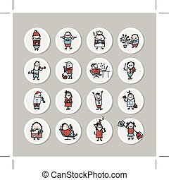 Funny people collection for your design