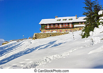 Mountain cabin in Romanian Carpathians.