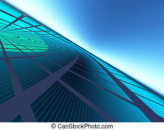 Progressive Business Background - An abstract green blue...